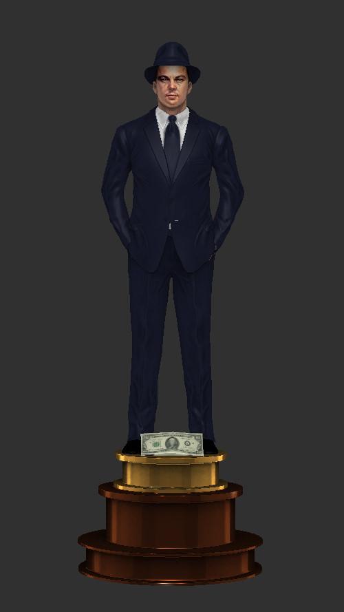 T Rex Car Price >> Leonardo DiCaprio 3D Model 3D printable STL - CGTrader.com