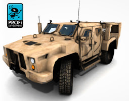 3D asset Army Transport OffRoad