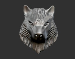 wolf head 3d print model
