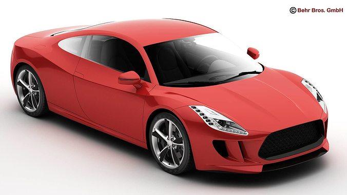 generic sports car 3d model max obj mtl 3ds fbx c4d lwo lw lws 1