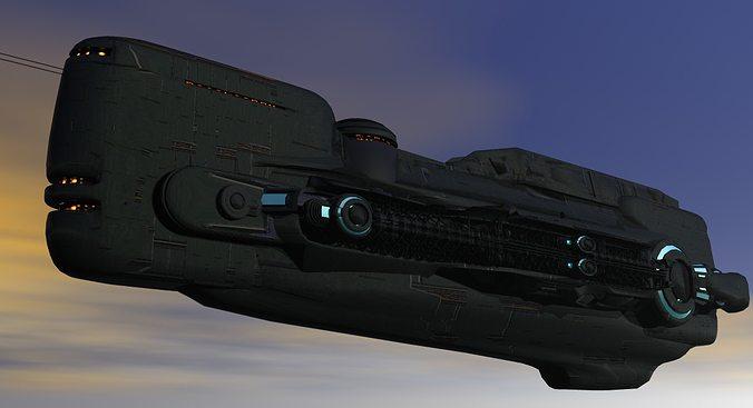federation intergallactic cruiser 3d model obj mtl 1
