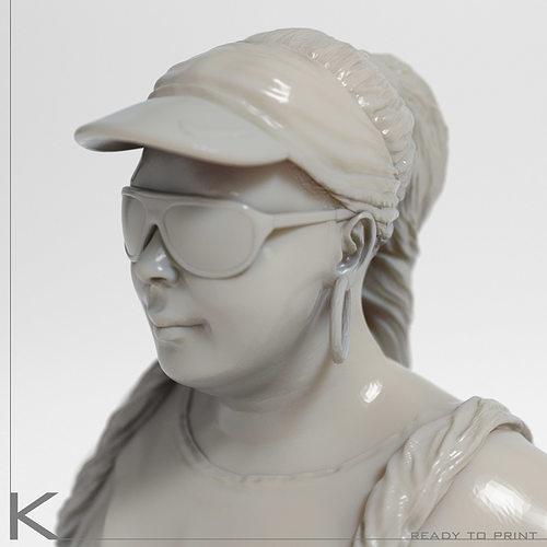 chubby girl 1 3d model max obj fbx stl 1