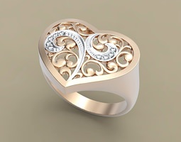 ring heart 3d printable model