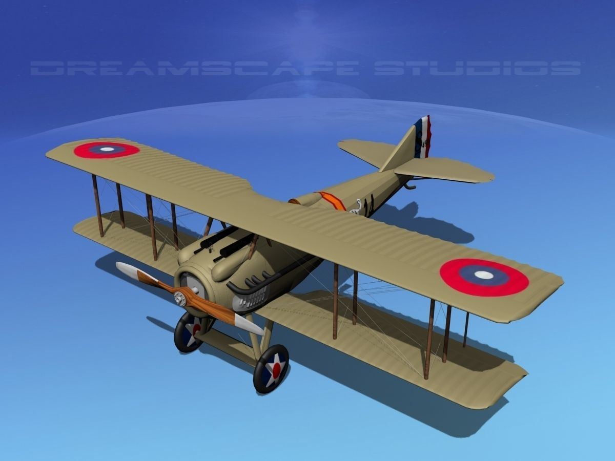 Spad S Xiii V09 France 3d Model Rigged Max Obj 3ds Lwo Lw