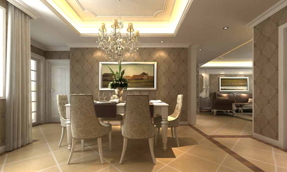 high end living room.  high end living hall interior with mirror 3d model max 3 High Living Hall Interior Mirror 3D MAX