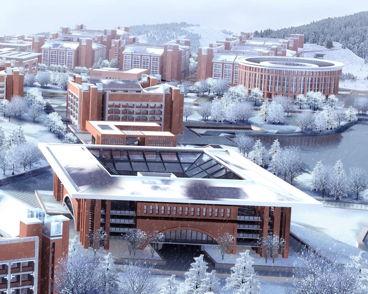 Modern House Infrastructure in Winter 3D Model M 3DS Grader.com - ^