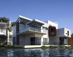 Modern Condo By The Water 3D