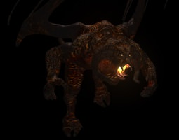 realtime 3d model balrog rigged