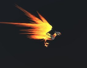 Fire Bird Phoenix 3D asset