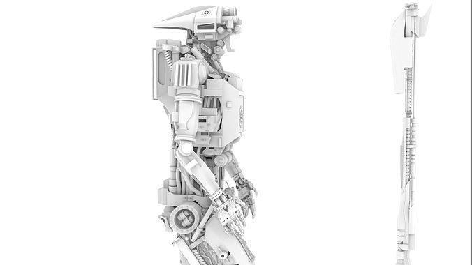 hightop droid 3d model obj mtl ma mb 1