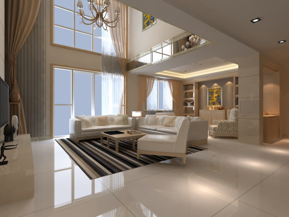 Elite living room interior with staircase 3d model max for Elite design