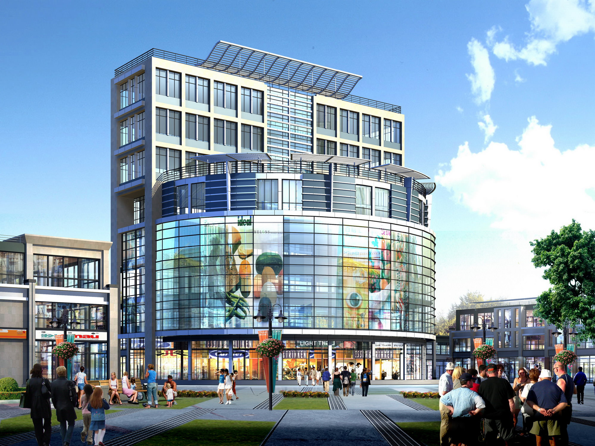 Modern Shopping Mall With Exotic Exterior 3d Model Max 3ds
