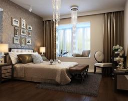 Home Luxury Bedroom 3D