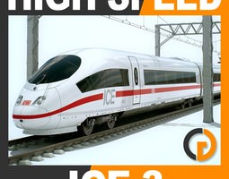 high speed train - ice 3 siemens velaro with interior 3d model max obj 3ds fbx c4d lwo lw lws