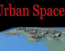 3d urban designed elegant town