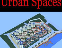 3d urban designed high-end city