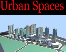 Urban Designed Luxury Commercial Town 3D