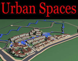 3d urban designed exotic town