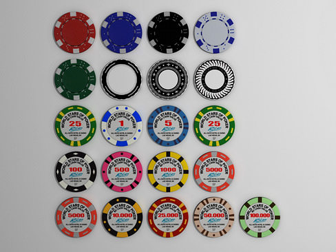 gambling chips 3d model max obj 3ds c4d lwo lw lws ma mb 1