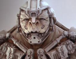 cyborg bust 3d