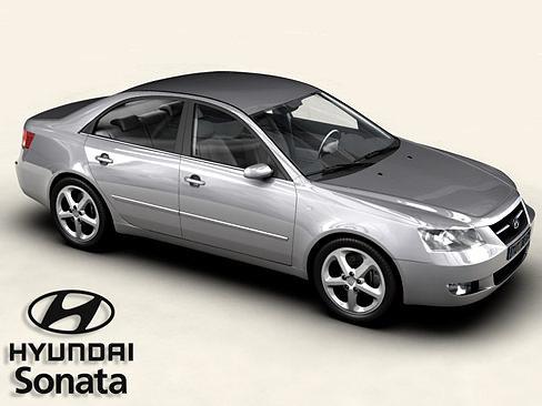 hyundai sonata 3d model max obj mtl 3ds tga 1