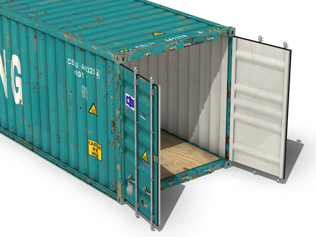 ... 40ft shipping container - china shipping 3d model obj 3ds fbx c4d lwo  lw lws 8 ...