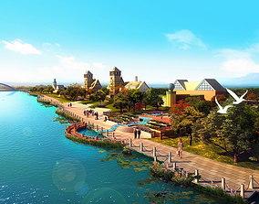 Lakeside Aristocratic Buildings 3D model