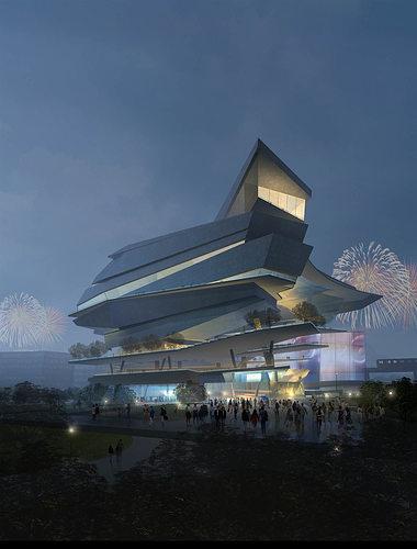 artistic designed building with posh floor 3d model max obj 3ds 1