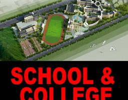 3D model Elite School and College Campus