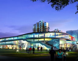 Exquisite Cityscape with Posh Building 3D