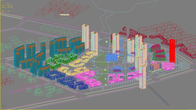 Urban space design 3d model max 3ds for Outer space urban design