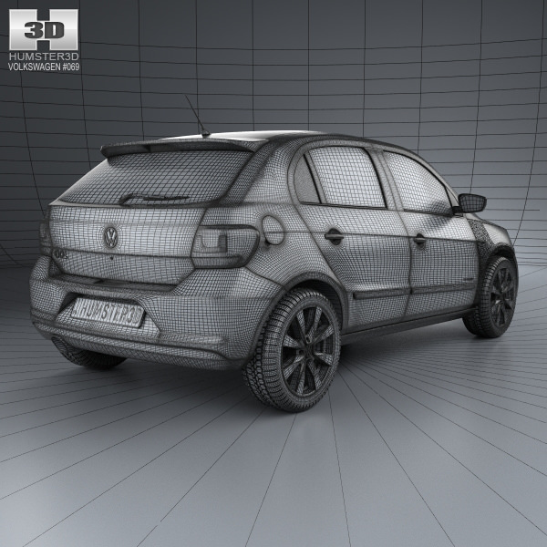 3d model volkswagen gol 5 door 2012 cgtrader pbr file preview presented by cgtrader malvernweather Gallery