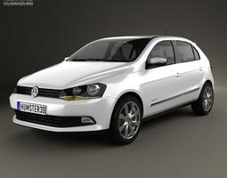 3D model Volkswagen Gol 5-door 2012