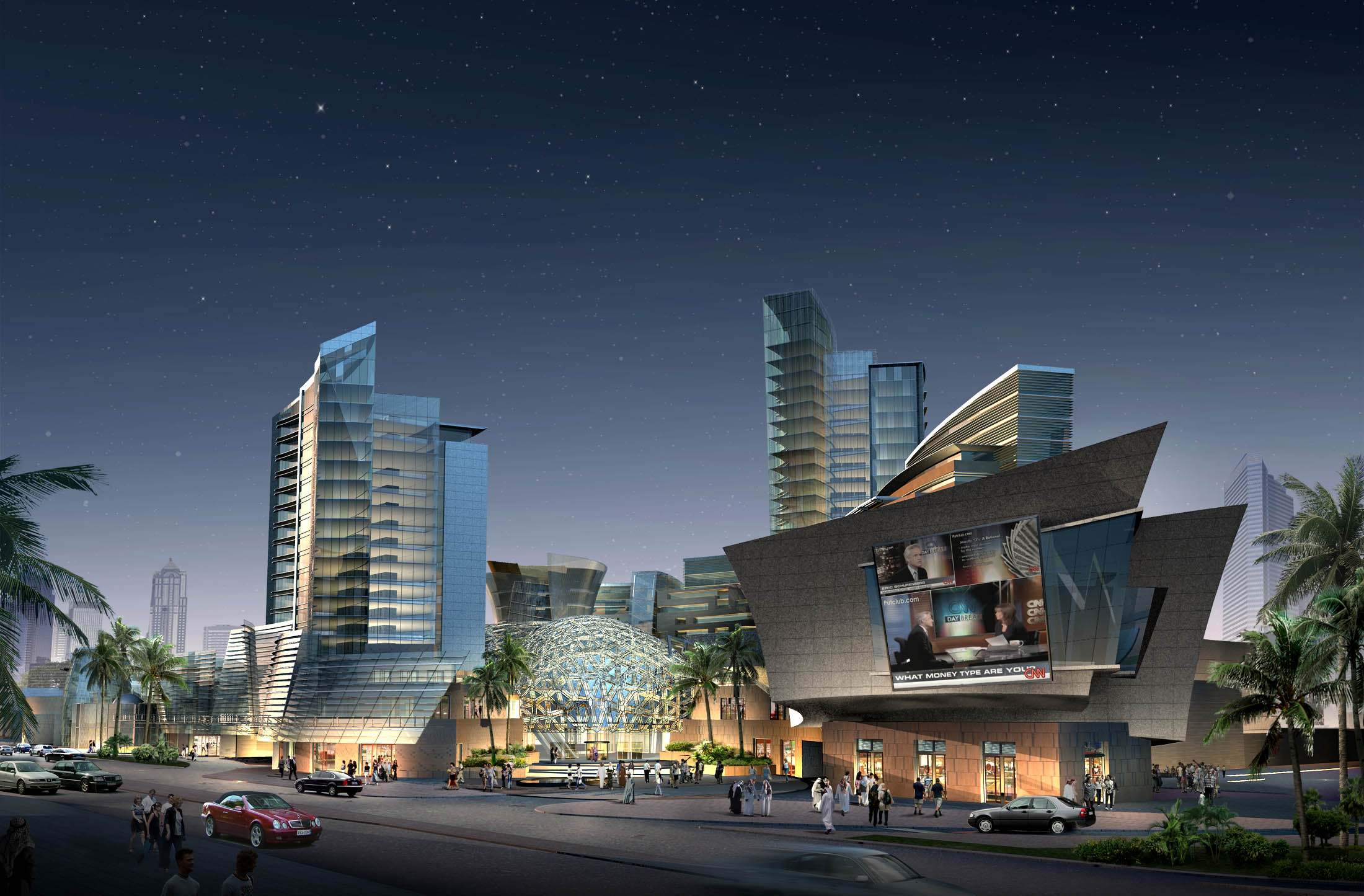 Commercial Vehicle Definition >> 3D Shopping Mall night | CGTrader