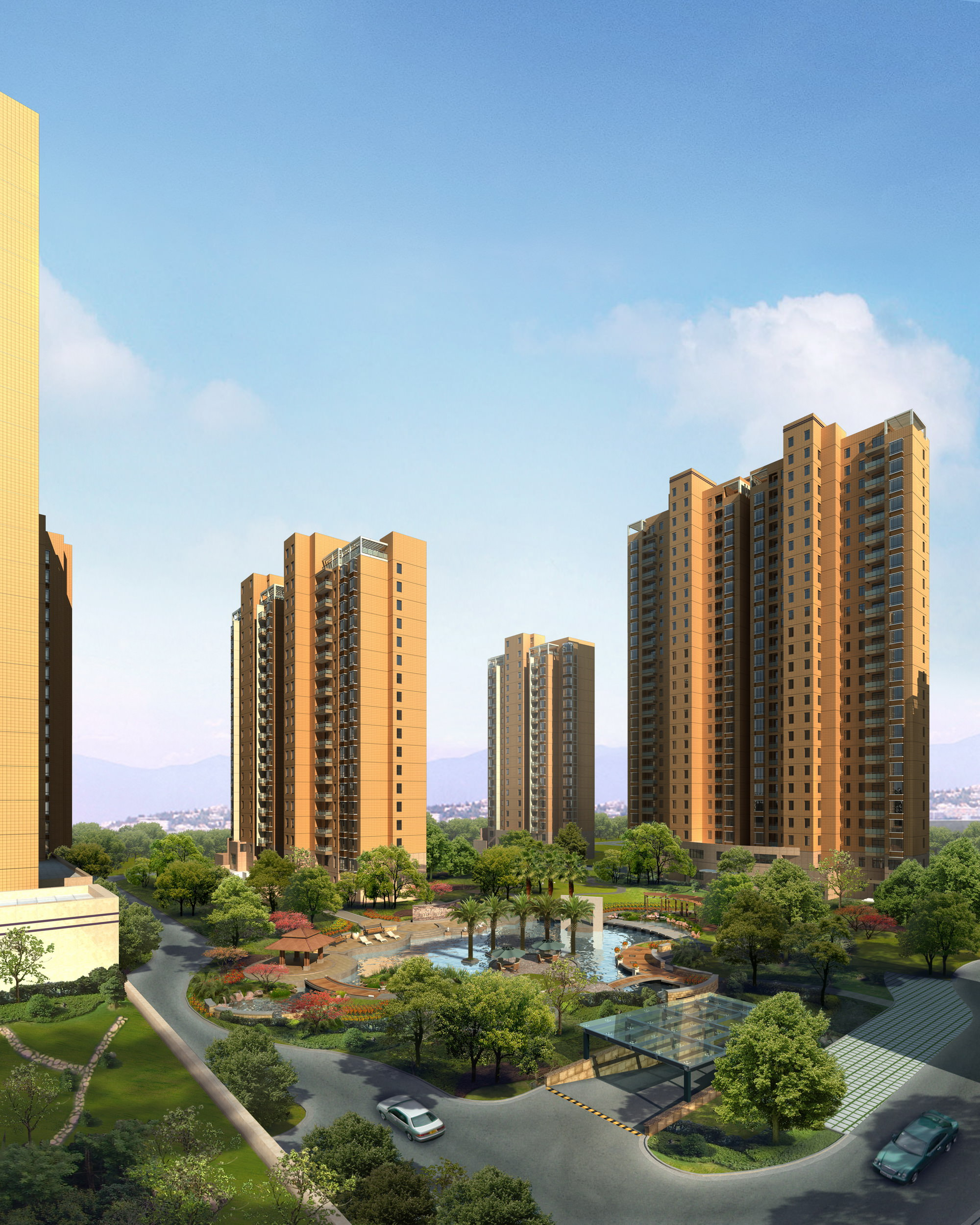 Best Exterior Design App: Multiple Buildings With Posh Exterior 3D