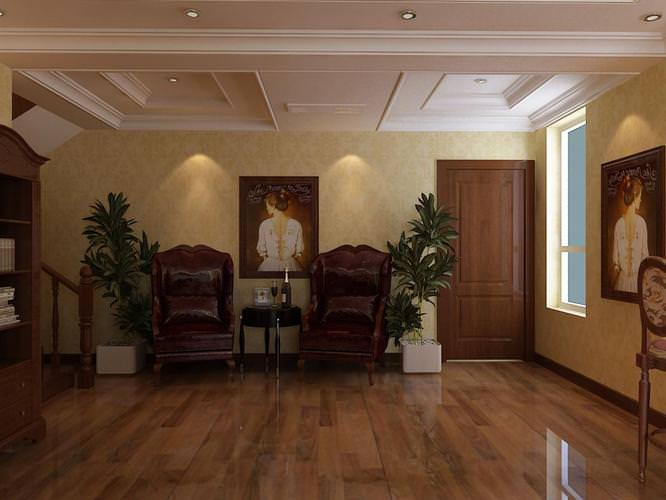 Posh Living Room With Decorative Interior 3D Model