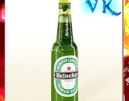heineken beer bottle 3d model max obj 3ds fbx