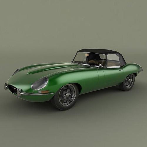 Price Of Jaguar Convertible: 3D Jaguar E-type Convertible
