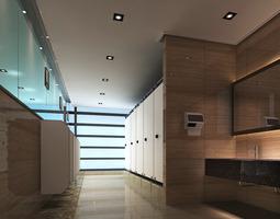 Aristocratic Public Washroom 3D
