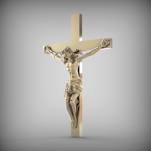 jesus crucifix is ready for prototyping stl 3d model stl 1