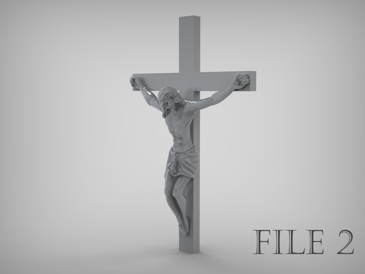 3d Printed Car Parts >> Jesus Crucifix is ready for prototyping STL 3D Model 3D