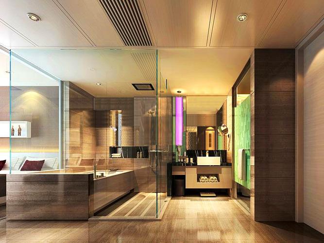 3d model bathroom with exotic interior design cgtrader for Bathroom design 3d model