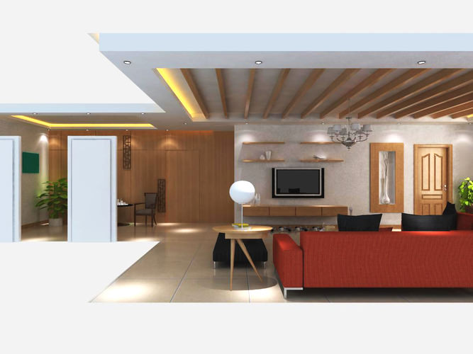 Living space with knole sofas and tv 3d model max - Sofas small spaces model ...