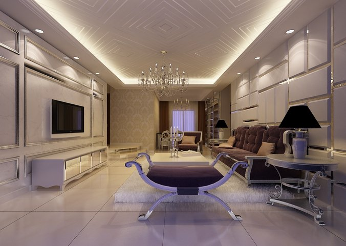 3d large living room with couch cgtrader for 10 wide living room