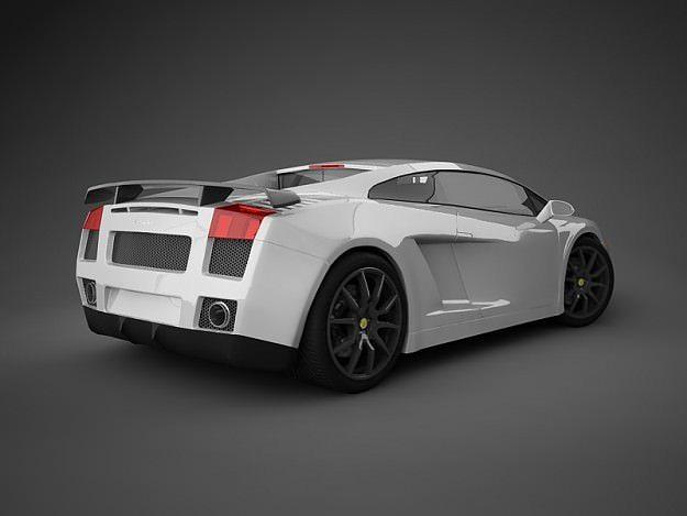 Lamborghini Gallardo White 3d Model Max Obj 3ds 12