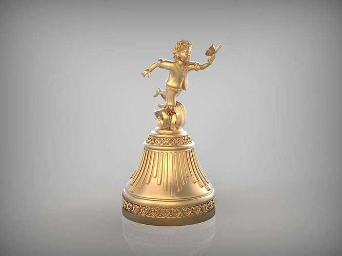 bell - boy with butterfly stl 3d model stl 1