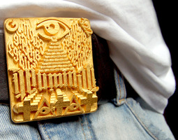 illuminati belt buckle 3d printable model