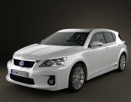 3D model Lexus CT 200h 2011