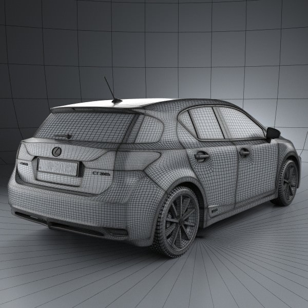 2011 Lexus Ct Suspension: Lexus CT 200h 2011 3D Model MAX OBJ 3DS FBX C4D LWO LW LWS