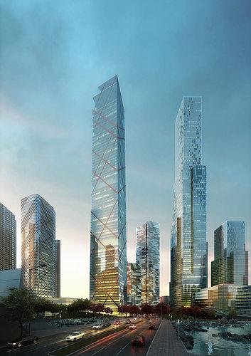 skyscrapers 648 3d models 3d model max 1